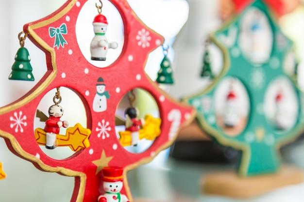 Houten kerst poppen