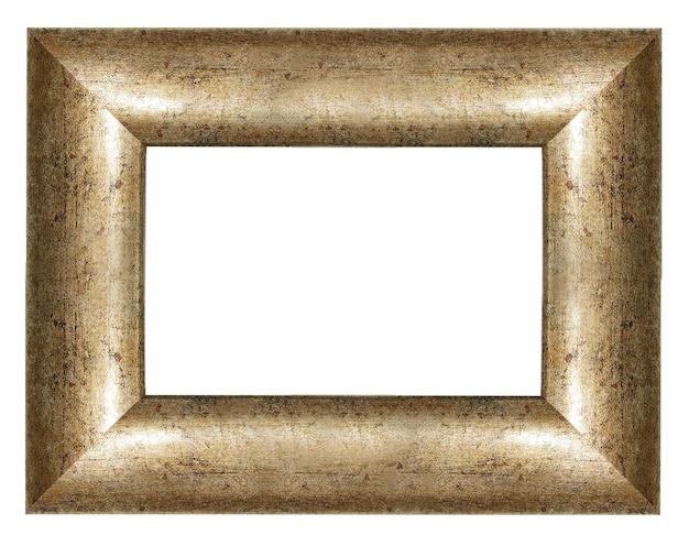 Houten leeg frame dat op wit wordt geïsoleerd