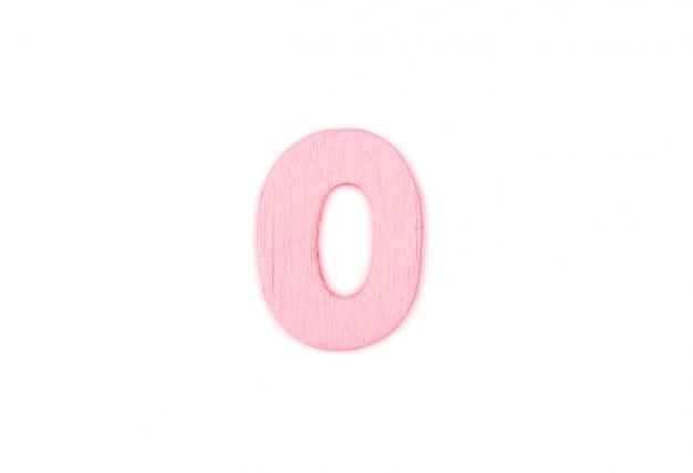 Houten letter o