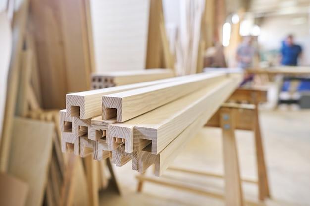 Houten meubeldetails, timmerwerk houtbewerking woodshop
