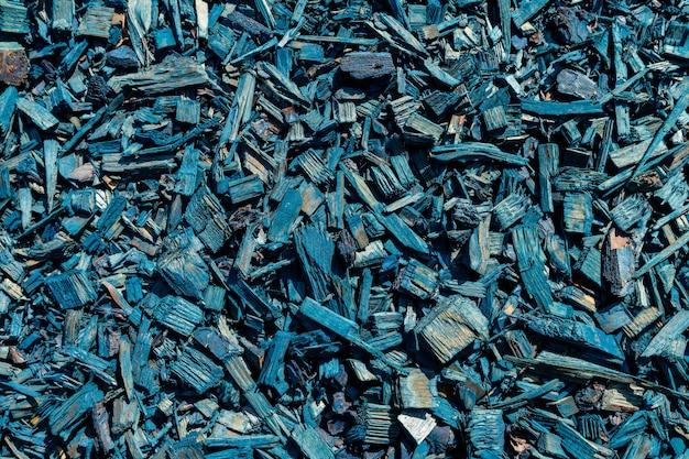 Houten mulch. houten schors chip textuur.