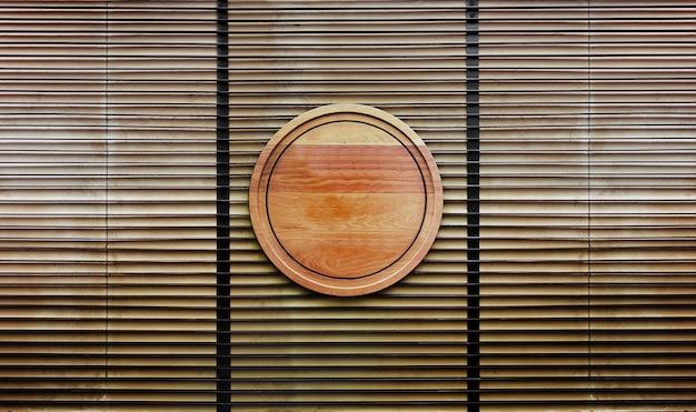 Houten ornament op houten oppervlak