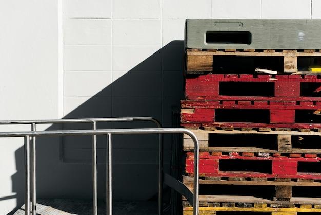 Houten pallet vracht vracht industrie lading logistiek