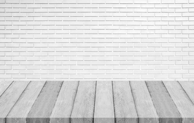 Houten panelen en witte betonnen muurtextuur voor achtergrond
