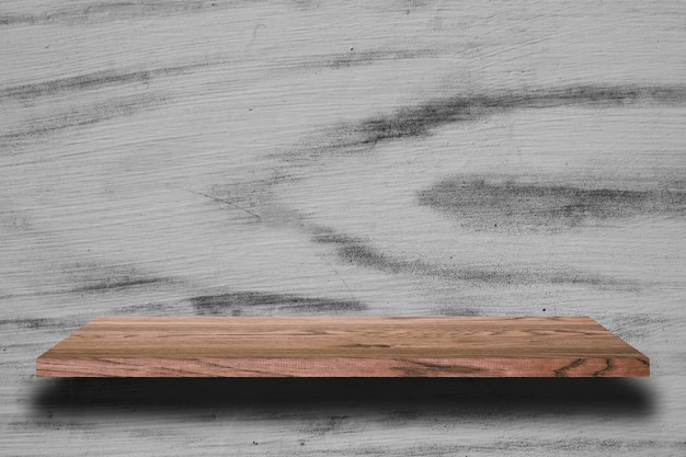 Houten plank en houten achtergronden, voor productvertoning.