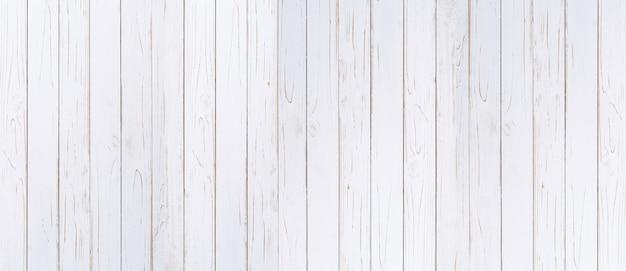 Houten plank geschilderde achtergrond in witte kleur met exemplaarruimte.
