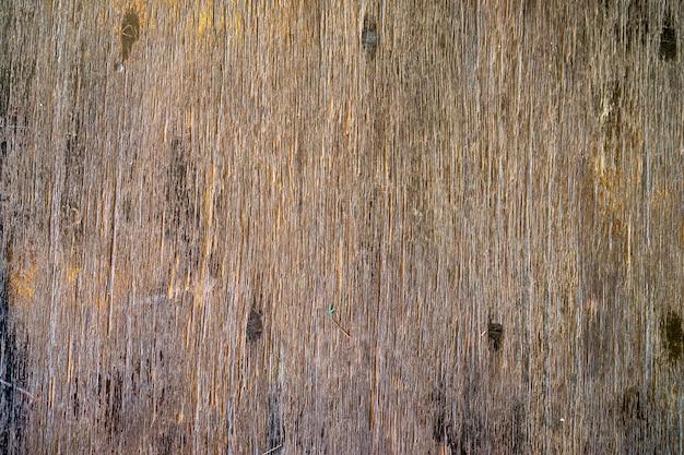 Houten planken schilderden de achtergrond van de tafel.