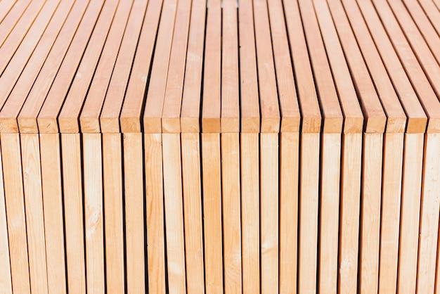 Houten smalle planken achtergrond close-up