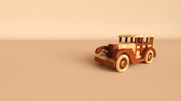 Houten speelgoed mini-auto