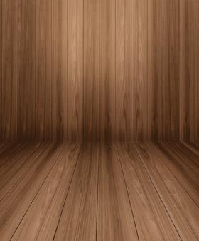 Houten tafel voor houten muurvervaging voor mockup van productvertoning.