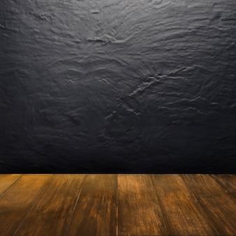Houten textuur die uitkijkt op een donkere achtergrond