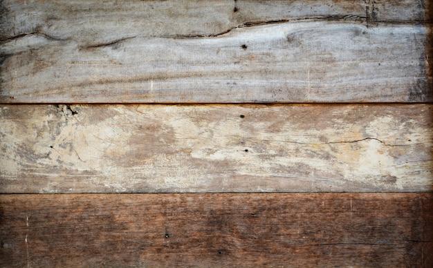 Houten textuur / oude houten textuur backgroun - bruin en geel houten muurpatroon voor ba