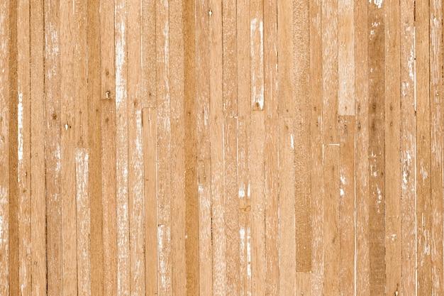 Houten textuurachtergrond van oude gekraste houten planken in lichtgele beige kleur met sommige barsten.
