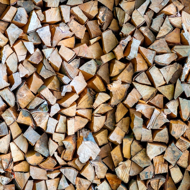 Houten textuurbroun brandhout als achtergrond
