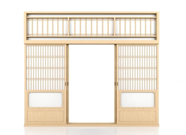 Houten traditionele japanse deur