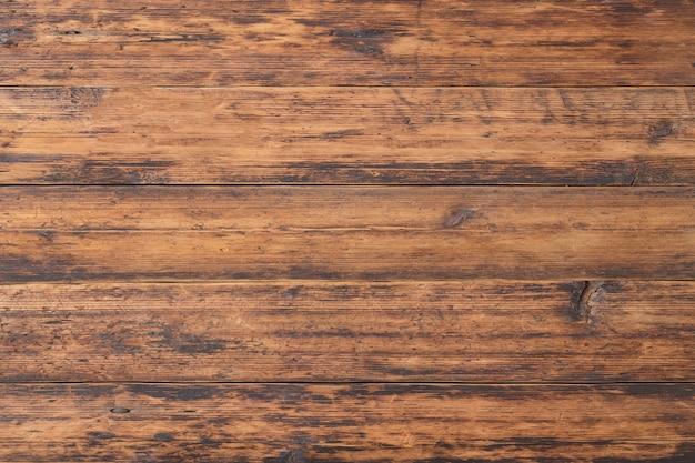 Houten vloer of wandplanken. oud tafelblad met natuurlijke textuur