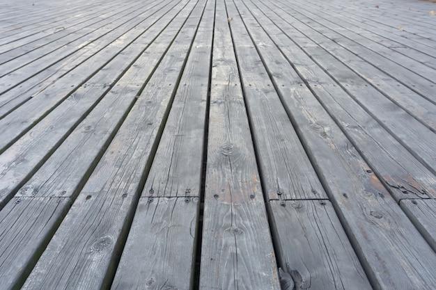 Houten vloer uitzicht