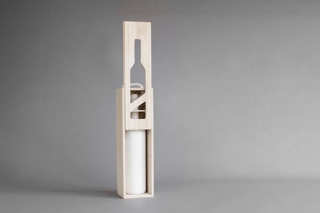 Houten wijnkistmodel