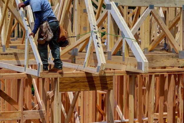 Houten woning dak woningbouw thuis inlijsten