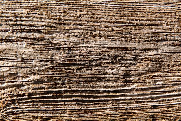 Houtstructuur achtergrond. oppervlakte van oud hout met aardkleur, textuur en patroon.