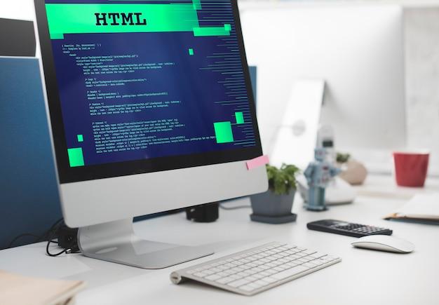 Html-programmering geavanceerde technologie webconcept