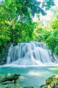 Huay mae kamin waterfall in kanchanaburi in thailand