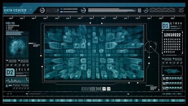 Hud futuristische holografische scan slimme stadstechnologie