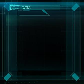 Hud-interface. illustratie ontwerp.
