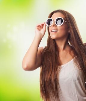 Huid volwassen bril jeugd persoon