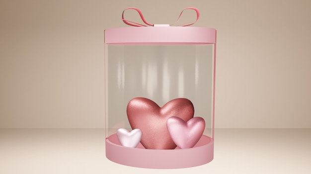Huidige doos met harten