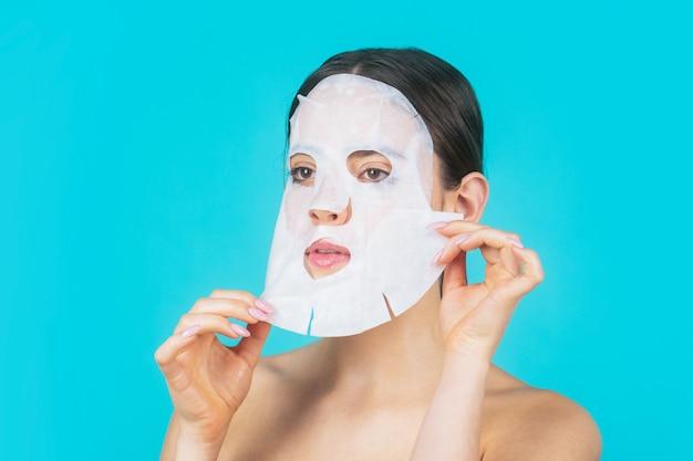 Huidverzorging en beauty concept. hydraterend masker.