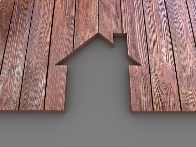 Huis abstract houten