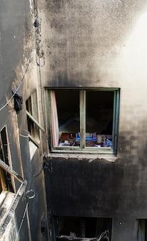 Huis dat werd verlaten na een grote brand