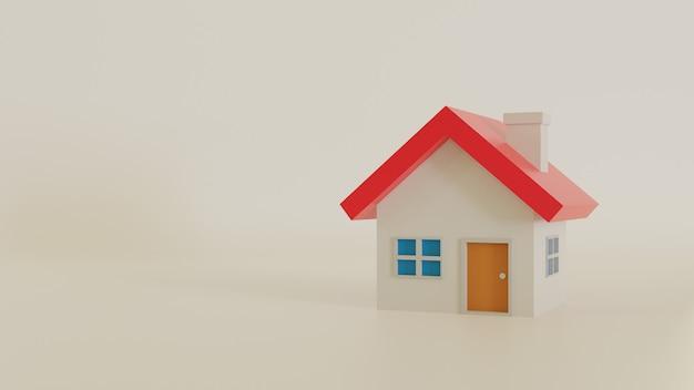 Huis geïsoleerd. 3d rendering illustratie.