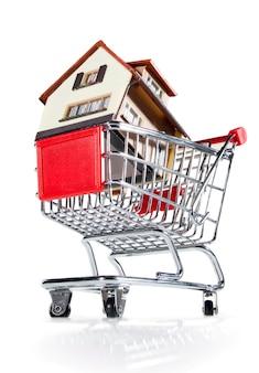 Huis in winkelwagen