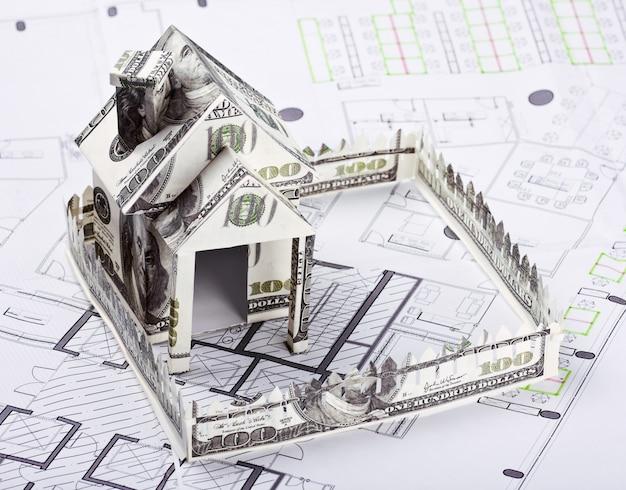 Huis van het geld voor het architecturale plan