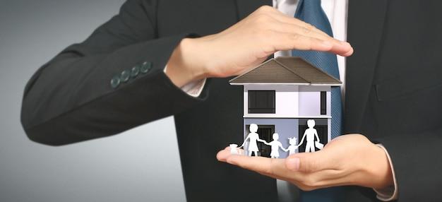Huis woonstructuur in een hand
