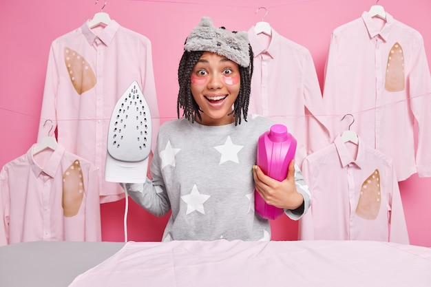 Huishoudelijk werk en huishoudelijke klusjes concept