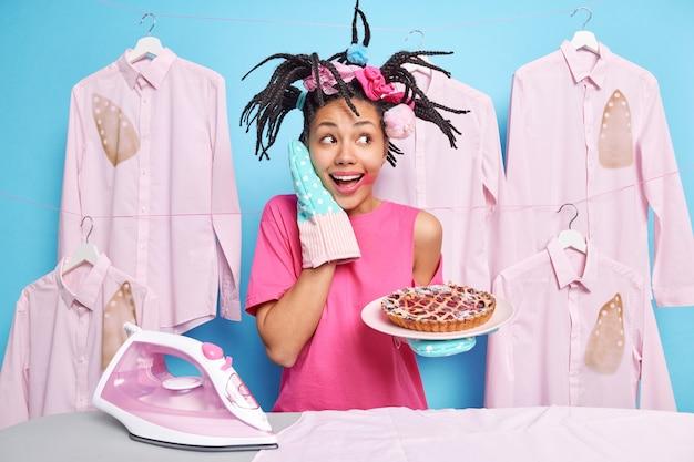 Huishoudelijk werk en huishouden concept.