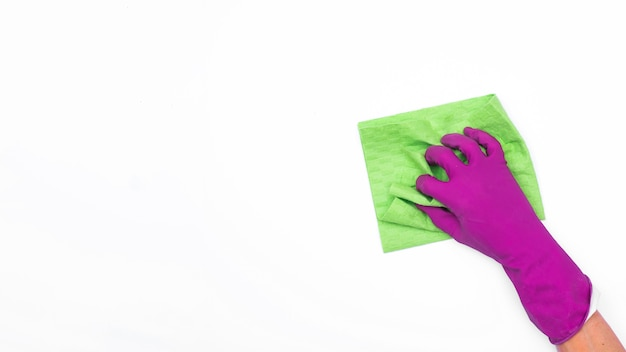 Huishoudenconcept met schoonmakende producten