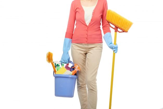 Huishoudster schoonmaak huis