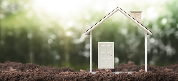 Huismodel. home eco en onroerend goed concept