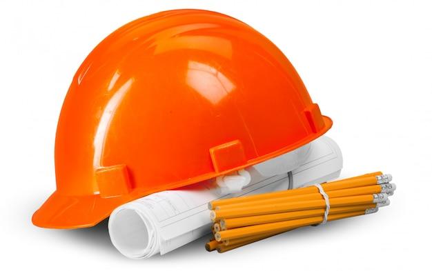 Huisplan en helm