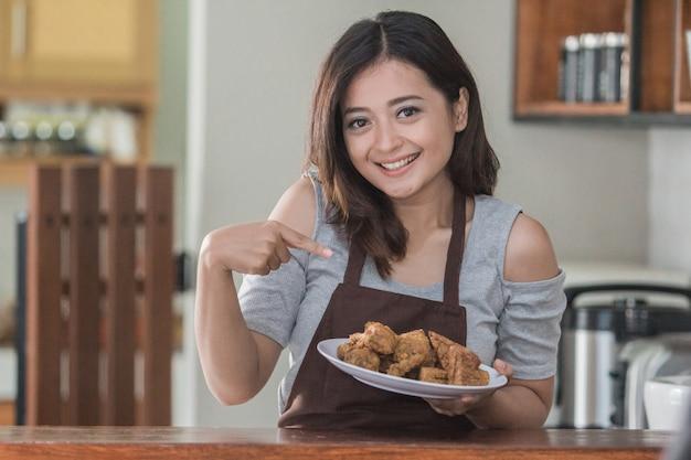 Huisvrouw koken