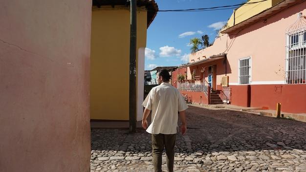 Huizen in de oude stad, trinidad, cuba