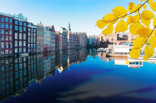 Huizen van amsterdam, nederland