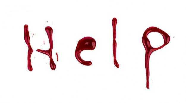 Hulp bloedige tekst