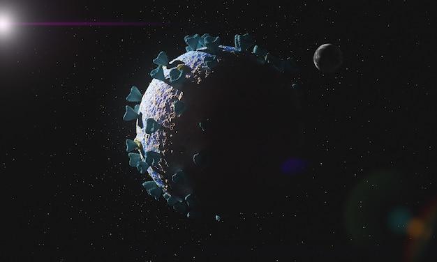 Hulpeloze geïnfecteerde planeet aarde