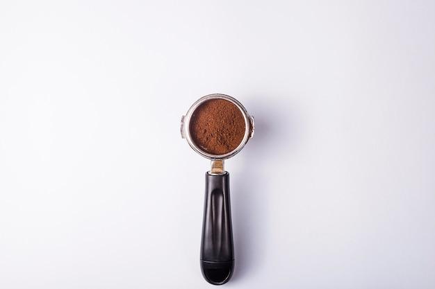 Hulpmiddel om professionele espresso op een grijze lijst te maken