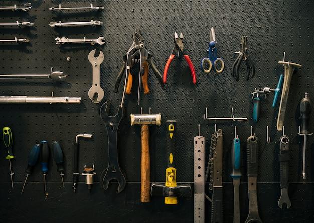 Hulpmiddelen van een reparatiewerkplaats